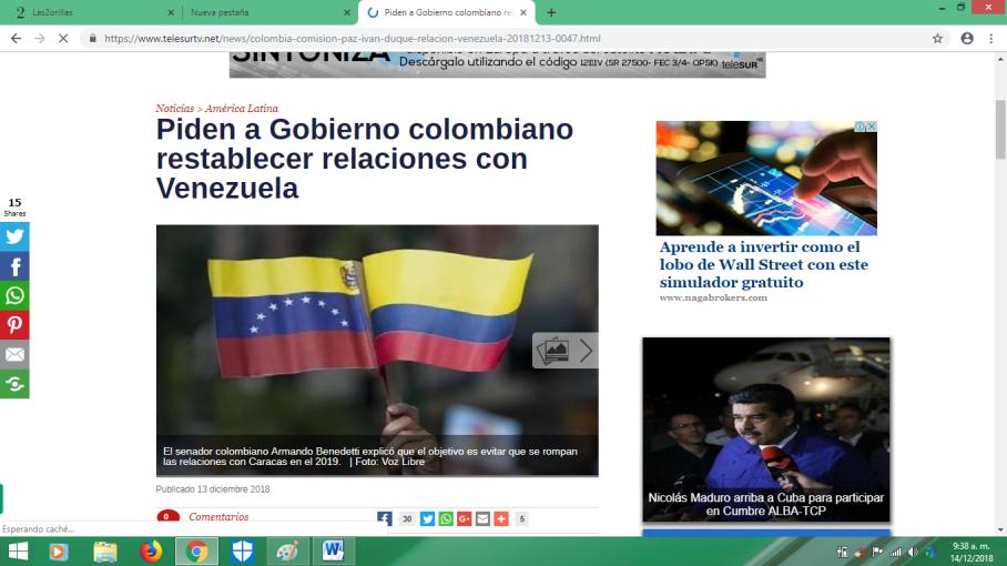 no romper con venezuela